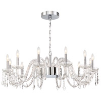 EuroFase 34080-016 Ferrero 16 Light 42 inch Chrome Chandelier Ceiling Light in Clear