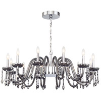 EuroFase 34080-023 Ferrero 16 Light 42 inch Chrome Chandelier Ceiling Light in Smoke Small