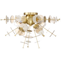 EuroFase 34081-013 Bonazzi 4 Light 24 inch Brass Flush Mount Ceiling Light