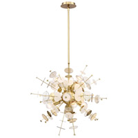 EuroFase 34082-010 Bonazzi 6 Light 24 inch Brass Chandelier Ceiling Light