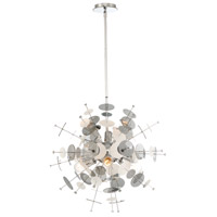 EuroFase 34082-027 Bonazzi 6 Light 24 inch Chrome Chandelier Ceiling Light