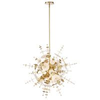 EuroFase 34083-017 Bonazzi 9 Light 29 inch Brass Chandelier Ceiling Light