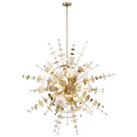 EuroFase 34084-014 Bonazzi 12 Light 49 inch Brass Chandelier Ceiling Light