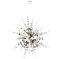 EuroFase 34084-021 Bonazzi 12 Light 49 inch Chrome Chandelier Ceiling Light