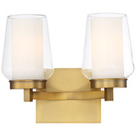 EuroFase 34092-019 Manchester 2 Light 13 inch Brass Wall Sconce Wall Light