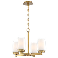 EuroFase 34093-016 Manchester 4 Light 16 inch Brass Chandelier Ceiling Light