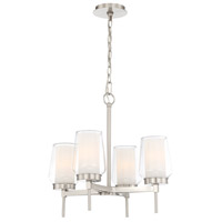 EuroFase 34093-023 Manchester 4 Light 16 inch Satin Nickel Chandelier Ceiling Light