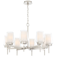 EuroFase 34094-020 Manchester 8 Light 30 inch Satin Nickel Chandelier Ceiling Light