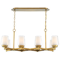 EuroFase 34095-010 Manchester 8 Light 16 inch Brass Chandelier Ceiling Light
