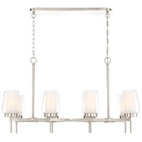 EuroFase 34095-027 Manchester 8 Light 16 inch Satin Nickel Chandelier Ceiling Light