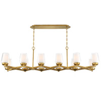 EuroFase 34096-017 Manchester 12 Light 16 inch Brass Chandelier Ceiling Light