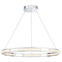 Fanton LED 33 inch Chrome Chandelier Ceiling Light