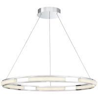 EuroFase 34103-012 Fanton LED 33 inch Chrome Chandelier Ceiling Light
