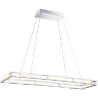 EuroFase 34104-019 Fanton LED 13 inch Chrome Chandelier Ceiling Light
