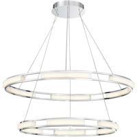 EuroFase 34105-016 Fanton LED 33 inch Chrome Chandelier Ceiling Light