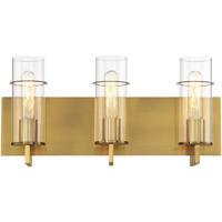 EuroFase 34134-040 Pista LED 19 inch Gold Vanity Light Wall Light