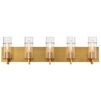 EuroFase 34136-044 Pista LED 34 inch Gold Vanity Light Wall Light