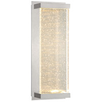 EuroFase 34138-014 Paradiso LED 15 inch Satin Nickel Outdoor Wall Mount Large