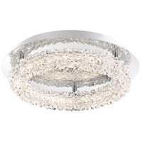 Sassi LED 15 inch Chrome Flush Mount Ceiling Light