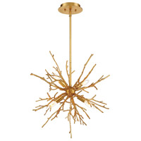 EuroFase 35638-018 Aberdeen 4 Light 23 inch Gold Leaf Chandelier Ceiling Light