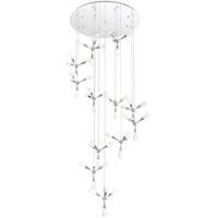 EuroFase 35734-017 Manning LED 41 inch Chrome Chandelier Ceiling Light