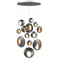EuroFase 35910-015 Arlington LED 40 inch Black Chrome Chandelier Ceiling Light