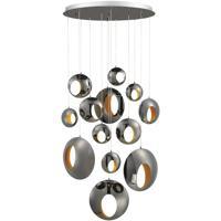 EuroFase 35910-015 Arlington LED 40 inch Blackened Chrome Chandelier Ceiling Light