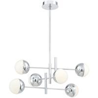 EuroFase 35919-018 Fairmount LED 32 inch Chrome Chandelier Ceiling Light