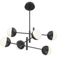 EuroFase 35919-025 Fairmount LED 32 inch Matte Black Chandelier Ceiling Light