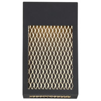 EuroFase 35926-016 Coop LED 6 inch Sand Black and Gold Painted Wall Sconce Wall Light