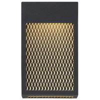EuroFase 35927-013 Coop LED 7 inch Sand Black and Gold Painted Wall Sconce Wall Light