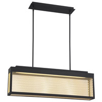 EuroFase 35929-017 Coop LED 5 inch Sand Black Chandelier Ceiling Light Small