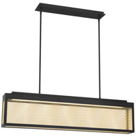 EuroFase 35930-013 Coop LED 5 inch Sand Black and Gold Painted Chandelier Ceiling Light