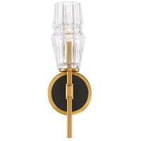 EuroFase 35936-015 Gladstone 1 Light 5 inch Antique Brass and Black Wall Sconce Wall Light