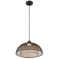 EuroFase 35945-017 Kenmore LED 16 inch Black and Gold Pendant Ceiling Light