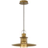EuroFase 35957-010 Lamport LED 11 inch Brushed Brass Pendant Ceiling Light