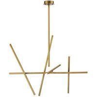 EuroFase 36250-035 Crossroads LED 22 inch Antique Brass Chandelier Ceiling Light