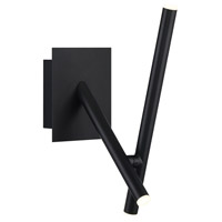 EuroFase 36252-015 Crossroads LED 5 inch Black Wall Sconce Wall Light