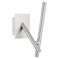 EuroFase 36252-022 Crossroads LED 5 inch Satin Nickel Wall Sconce Wall Light