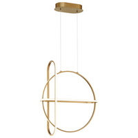 EuroFase 37035-020 Berkley LED 7 inch Stain Gold Chandelier Ceiling Light