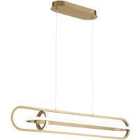 EuroFase 37039-028 Demark LED 7 inch Satin Gold Chandelier Ceiling Light
