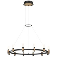 EuroFase 37043-018 Albany LED 32 inch Deep Black/Brass Chandelier Ceiling Light