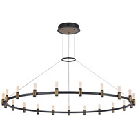 EuroFase 37045-012 Albany LED 60 inch Deep Black/Brass Chandelier Ceiling Light