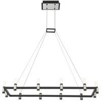 EuroFase 37047-016 Albany LED 16 inch Satin Nickel/Black Chandelier Ceiling Light