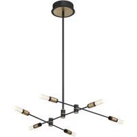 EuroFase 37050-016 Albany LED 32 inch Deep Black/Brass Chandelier Ceiling Light