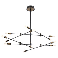 EuroFase 37051-013 Albany LED 41 inch Deep Black/Brass Chandelier Ceiling Light