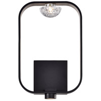 EuroFase 37076-016 Dagmar LED 9 inch Black Wall Sconce Wall Light