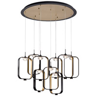 EuroFase 37079-017 Dagmar LED 33 inch Black Chandelier Ceiling Light