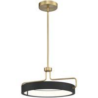 EuroFase 37083-014 Pemberton LED 18 inch Black Pendant Ceiling Light Small