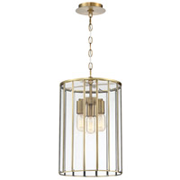 EuroFase 37085-018 Saville 3 Light 12 inch Brass Pendant Ceiling Light